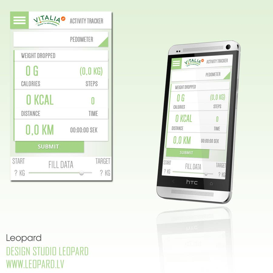 "#47 for Design for mobile app ""Vitalia tracker"" (design only) by VVolkovs"