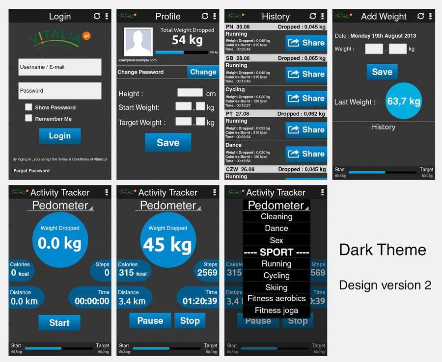 "#31 for Design for mobile app ""Vitalia tracker"" (design only) by oxhey"