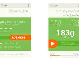 "nº 87 pour Design for mobile app ""Vitalia tracker"" (design only) par codeRaptor32"
