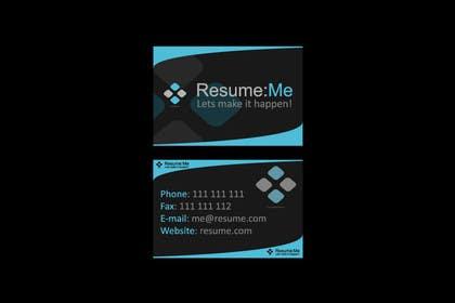 #149 for Logo and Business Card for Resume:Me by sagorak47