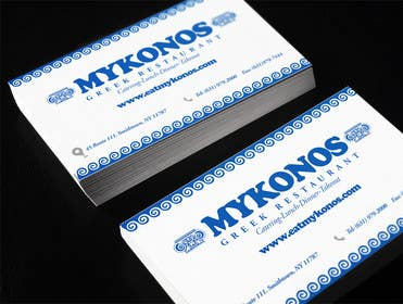 Graphic Design Contest Entry #42 for Design some Business Cards for Mykonos Greek Restaurant