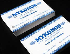 #42 untuk Design some Business Cards for Mykonos Greek Restaurant oleh ibib