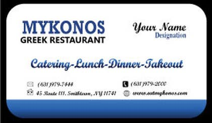 Graphic Design Contest Entry #20 for Design some Business Cards for Mykonos Greek Restaurant