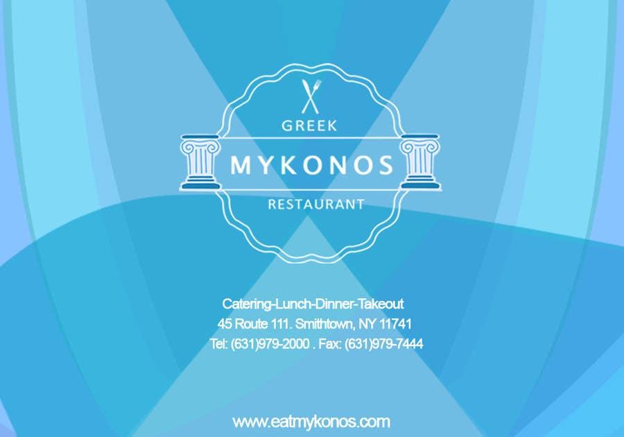 #26 for Design some Business Cards for Mykonos Greek Restaurant by pringsalinas