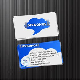 Graphic Design Contest Entry #9 for Design some Business Cards for Mykonos Greek Restaurant