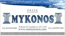 Entry # 51 for Design some Business Cards for Mykonos Greek Restaurant by