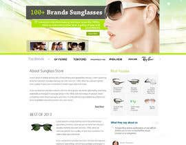 kethketh tarafından Design a Website Mockup for Eyeglass website için no 2