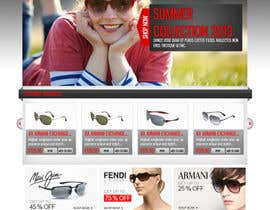 #9 para Design a Website Mockup for Eyeglass website por dilip08kmar