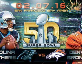 #10 for Design a Banner for Superbowl 50 by mirandalengo