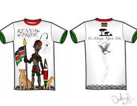#27 for t-shirt design based on the theme of Kenyan flag af ondrenebarnes
