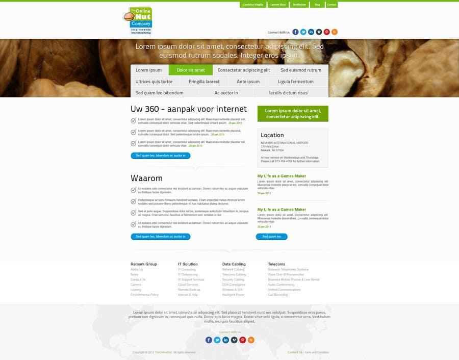 #17 for Design a website frontpage mockup (Wordpress) by snali