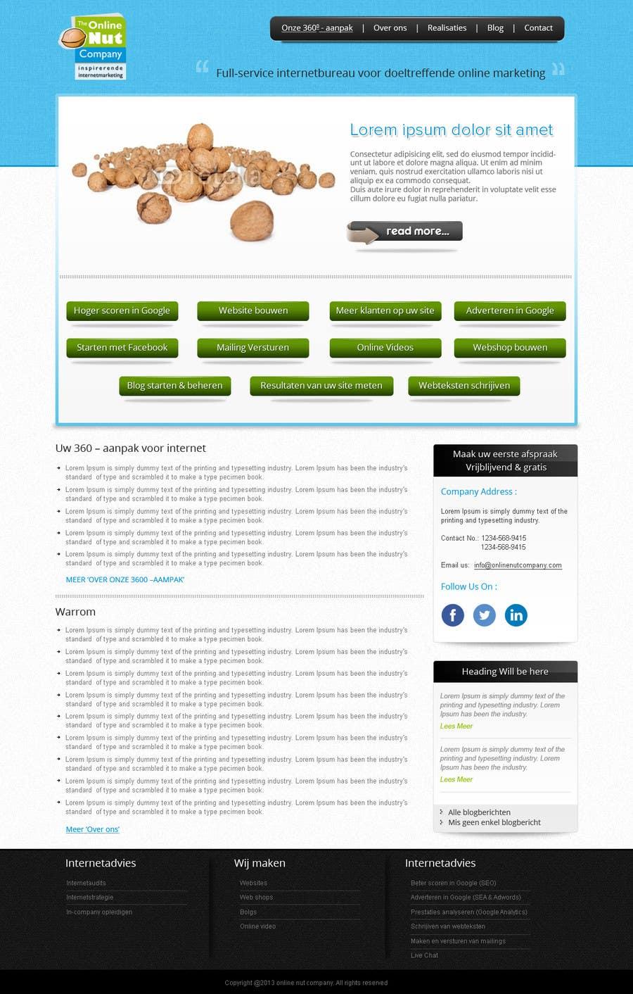 #14 for Design a website frontpage mockup (Wordpress) by kreativeminds