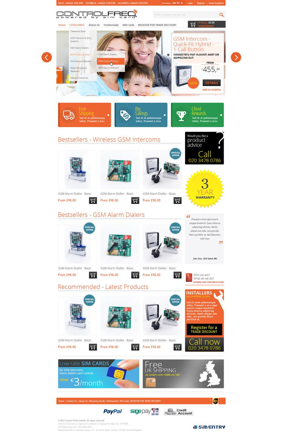 #2 for I need some Graphic Design for E-COMMERCE HOMEPAGE by designBox16