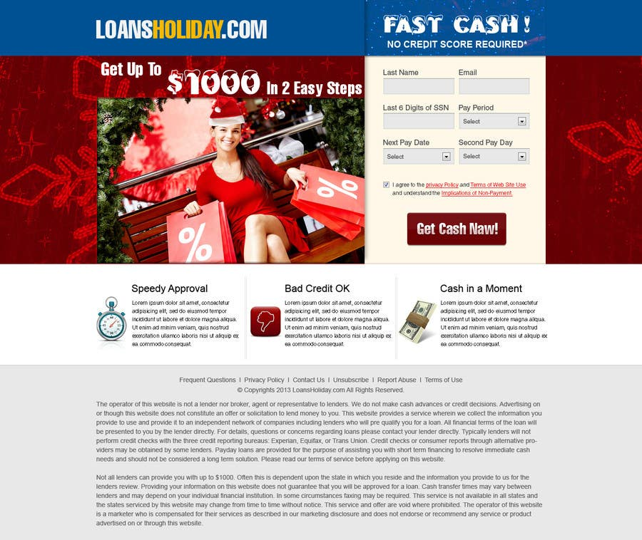 #26 for Design Landing Page #1 Shopping Product In 2013 Shopping Season In USA... Can you design better than Santa Claus? by kosmografic