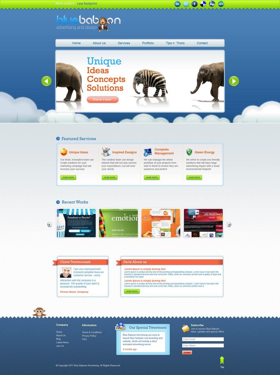Inscrição nº                                         3                                      do Concurso para                                         Wordpress Theme Design for Blue Baboon Advertising
