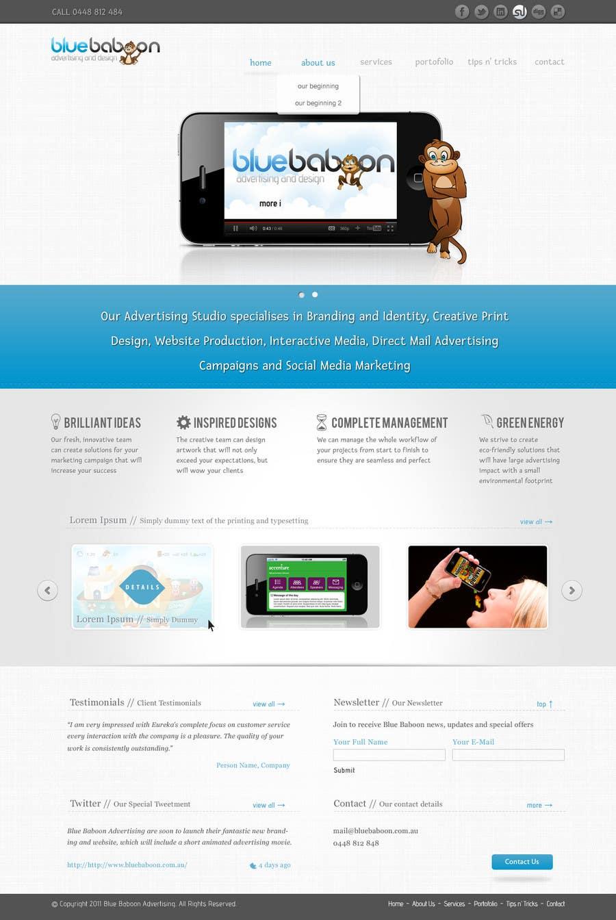 Inscrição nº                                         18                                      do Concurso para                                         Wordpress Theme Design for Blue Baboon Advertising