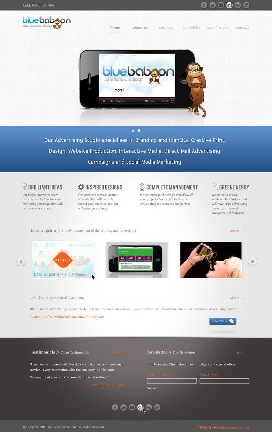 Inscrição nº                                         5                                      do Concurso para                                         Wordpress Theme Design for Blue Baboon Advertising
