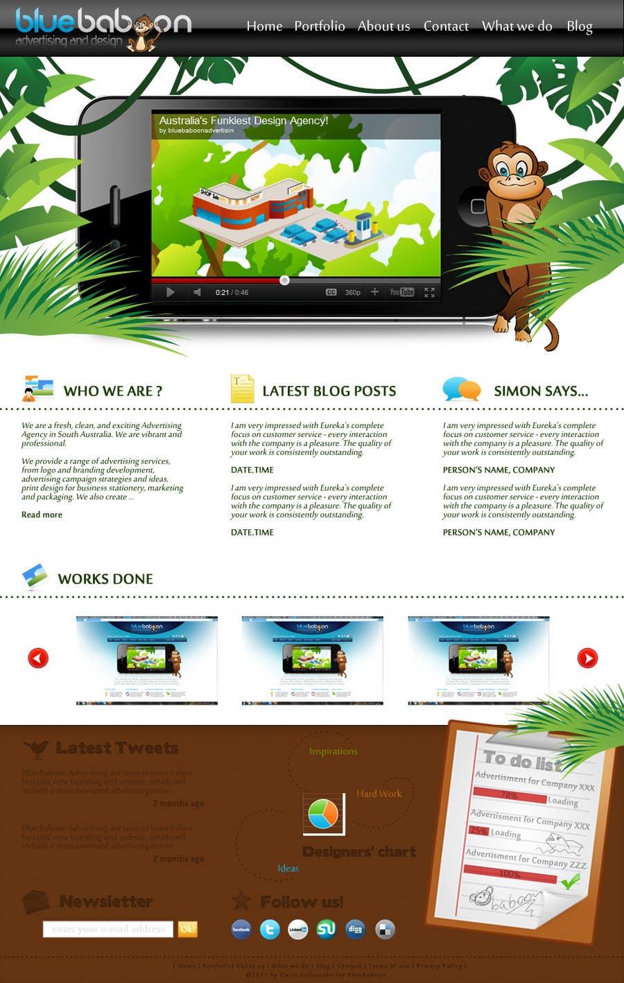 Inscrição nº                                         15                                      do Concurso para                                         Wordpress Theme Design for Blue Baboon Advertising