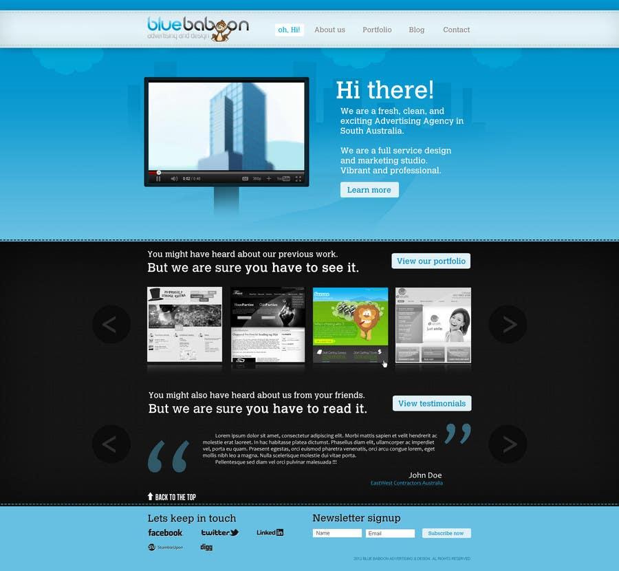 Inscrição nº                                         11                                      do Concurso para                                         Wordpress Theme Design for Blue Baboon Advertising
