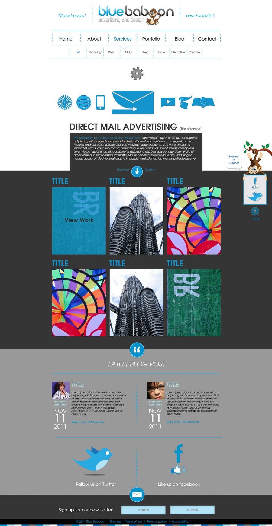Inscrição nº                                         33                                      do Concurso para                                         Wordpress Theme Design for Blue Baboon Advertising