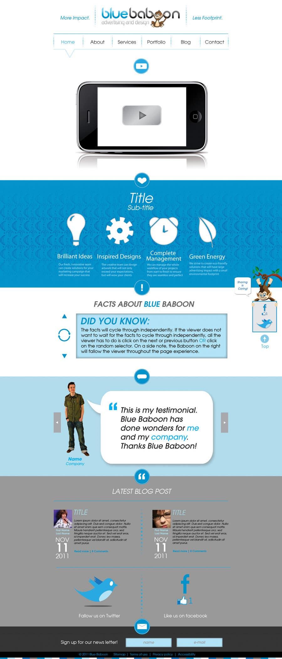 Inscrição nº                                         43                                      do Concurso para                                         Wordpress Theme Design for Blue Baboon Advertising