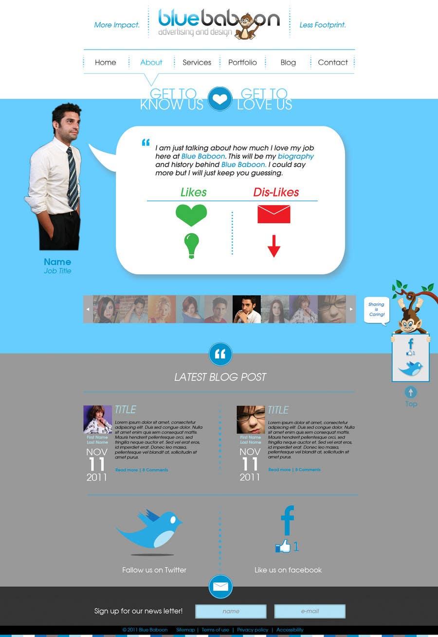Inscrição nº                                         32                                      do Concurso para                                         Wordpress Theme Design for Blue Baboon Advertising