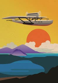 #18 for Design retro travel poster by sophialotus