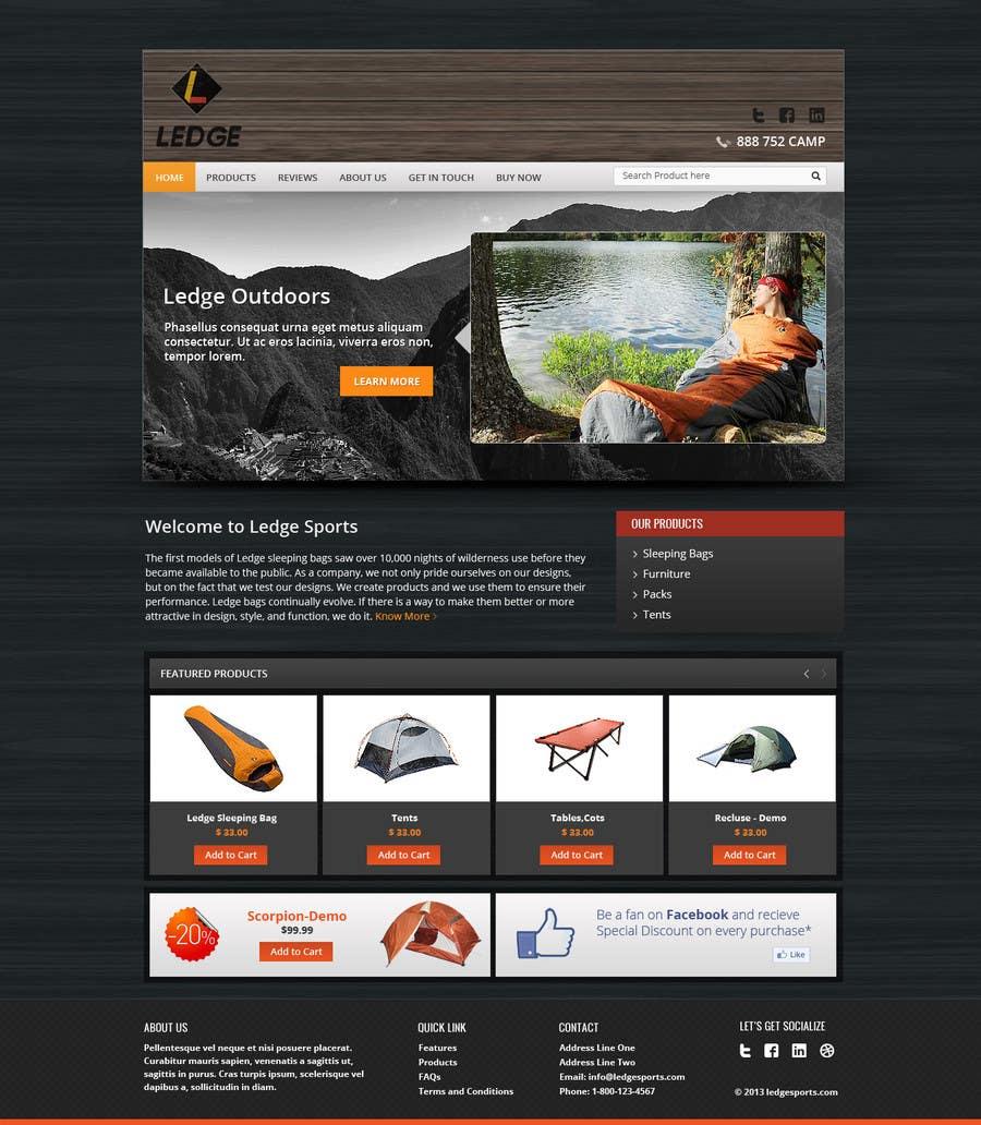 Konkurrenceindlæg #18 for Design a Website Mockup for Ledge Sports