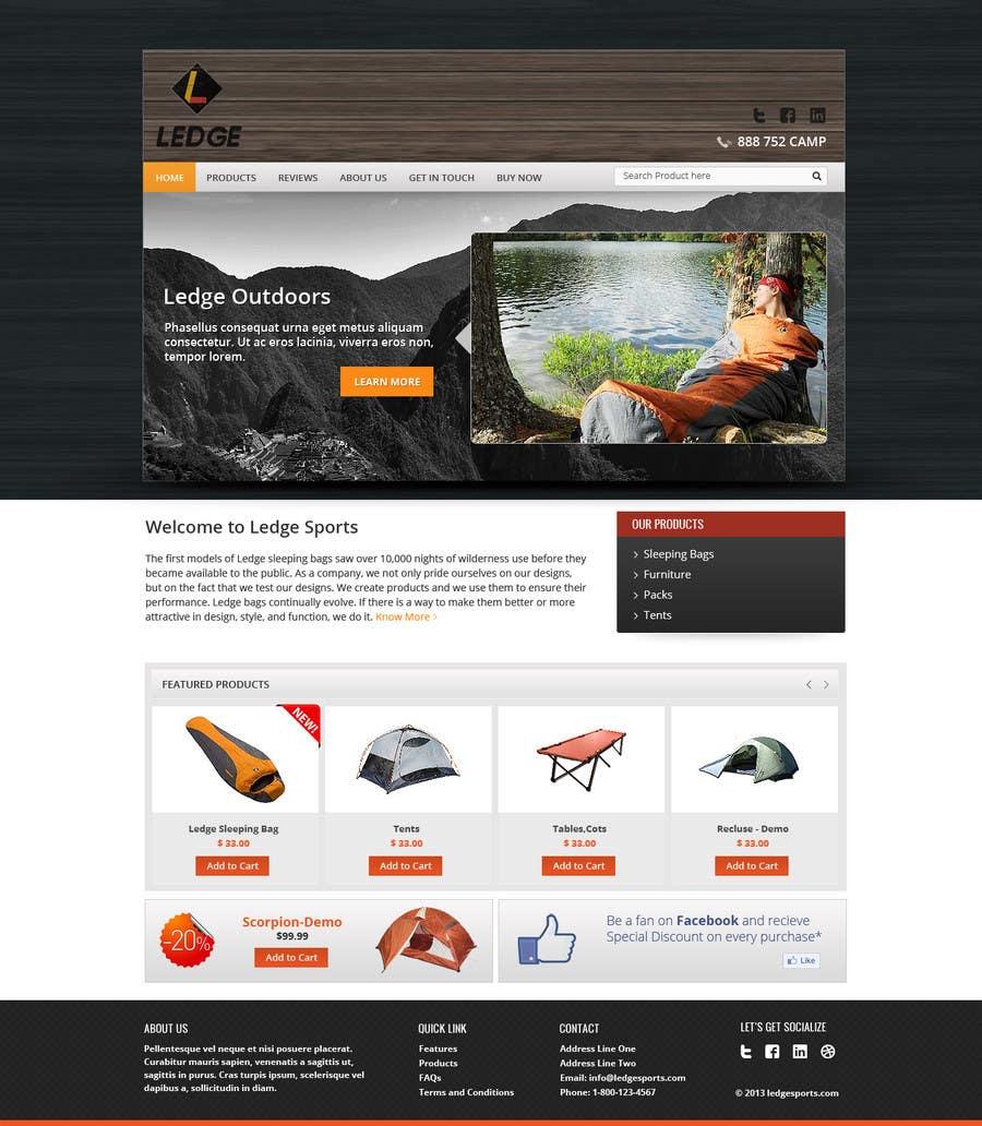 Penyertaan Peraduan #19 untuk Design a Website Mockup for Ledge Sports
