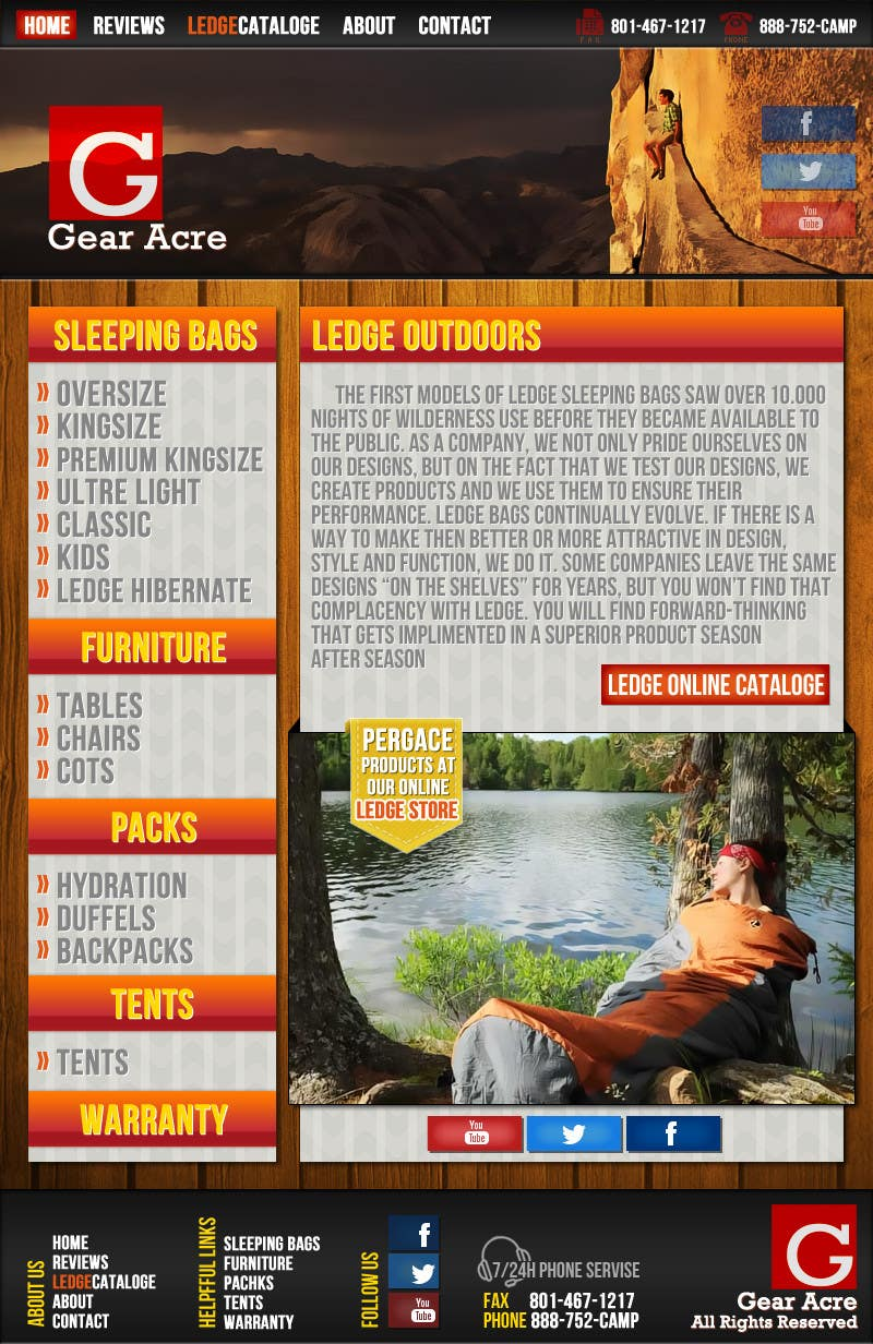 Penyertaan Peraduan #23 untuk Design a Website Mockup for Ledge Sports