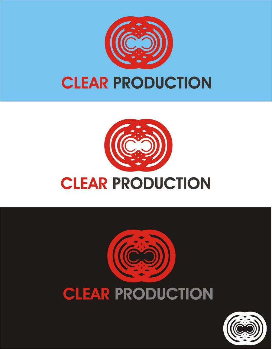 "Contest Entry #                                        1394                                      for                                         Logo Design for ""CLEAR PRODUCTION"" - Recording a mixing studio in Copenhagen"