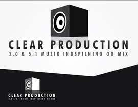 "marcoartdesign tarafından Logo Design for ""CLEAR PRODUCTION"" - Recording a mixing studio in Copenhagen için no 1103"