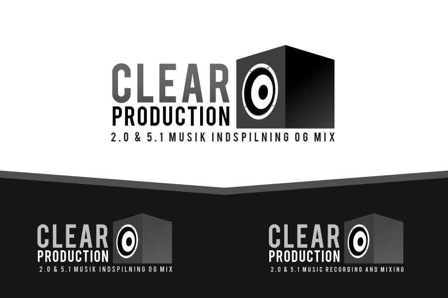 "Proposition n°                                        1312                                      du concours                                         Logo Design for ""CLEAR PRODUCTION"" - Recording a mixing studio in Copenhagen"