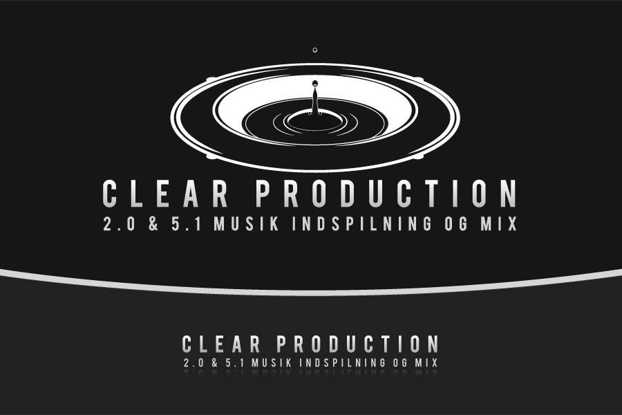 "Contest Entry #                                        870                                      for                                         Logo Design for ""CLEAR PRODUCTION"" - Recording a mixing studio in Copenhagen"