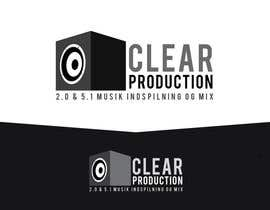 "#1113 untuk Logo Design for ""CLEAR PRODUCTION"" - Recording a mixing studio in Copenhagen oleh marcoartdesign"