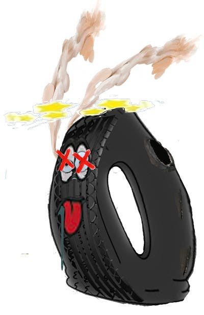 #3 for Car Tire Character by tampacoder