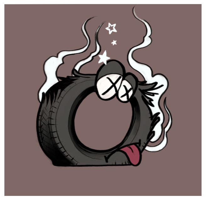#1 for Car Tire Character by zoolei