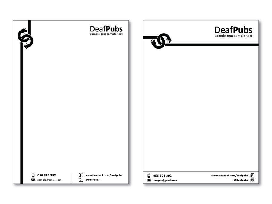 Inscrição nº                                         10                                      do Concurso para                                         Design some stationary for Deaf Pubs