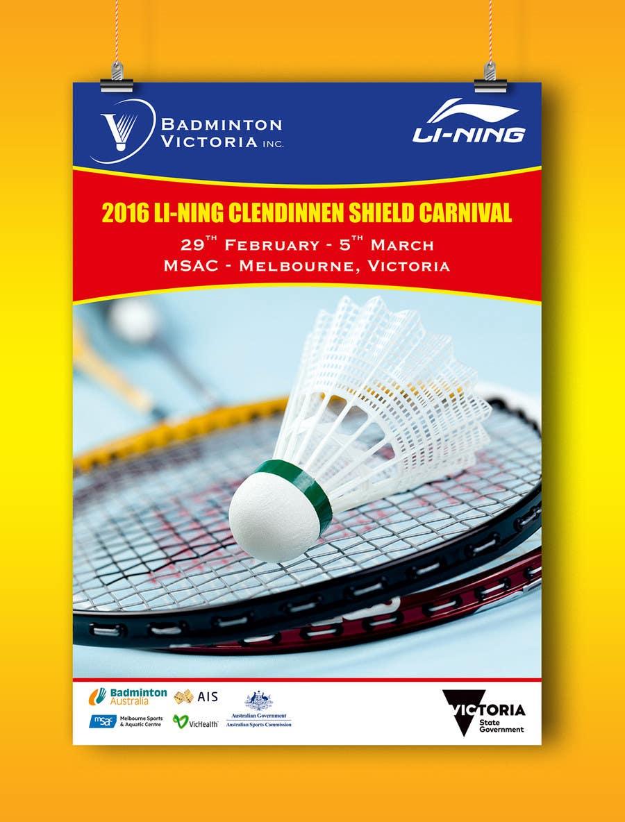 Конкурсная заявка №5 для Design A Badminton Tournament Poster