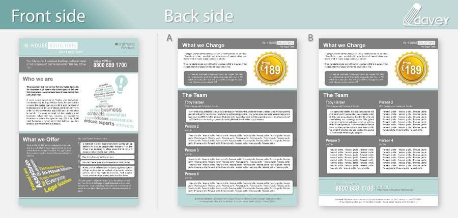 Penyertaan Peraduan #7 untuk Design a changeable brochure for my business