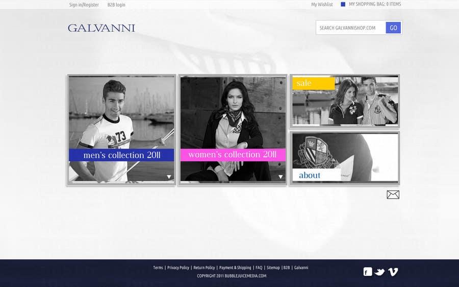 Inscrição nº 43 do Concurso para Website Design for Galvanni