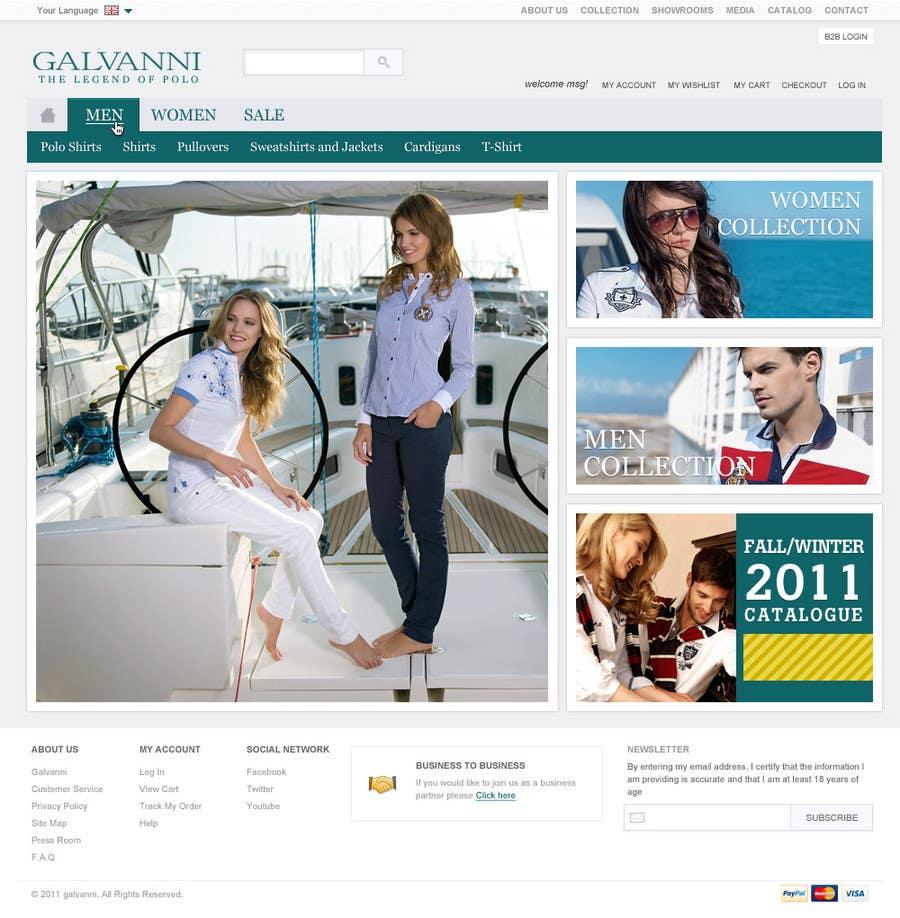 Inscrição nº 15 do Concurso para Website Design for Galvanni