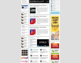 #2 untuk Design a Website Mockup for an articles website oleh designBox16