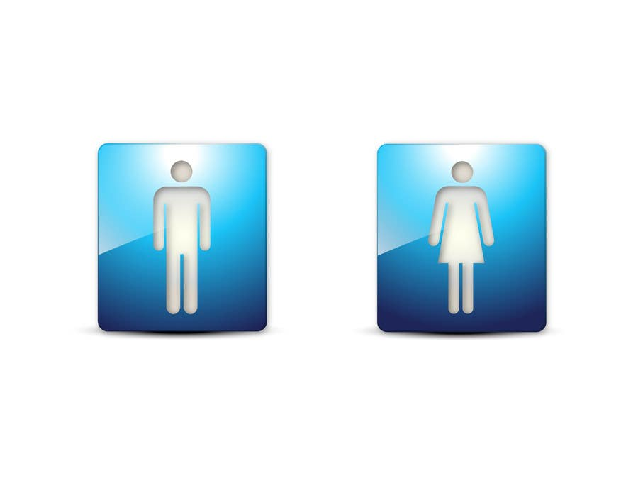 #16 for Design some contemporary male and female Icons by mirceabaciu