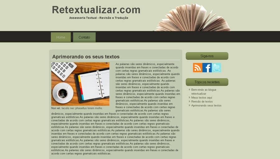 Inscrição nº                                         2                                      do Concurso para                                         Site retextualizar.com