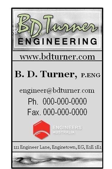 #11 for Design a Logo and business card for an Electrical Engineer by kattepain