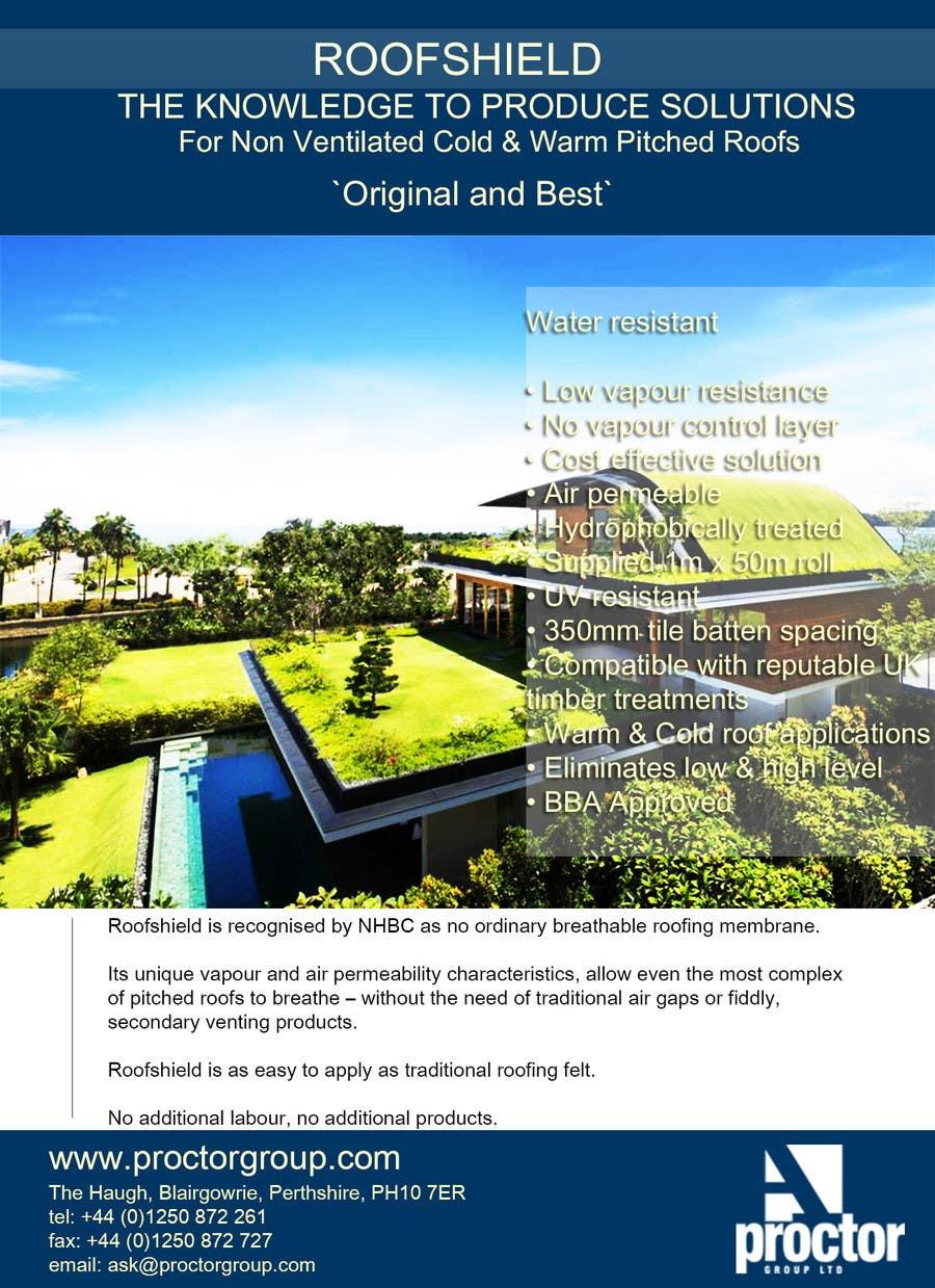 Bài tham dự cuộc thi #                                        73                                      cho                                         Design an Advertisement for Roofshield 2