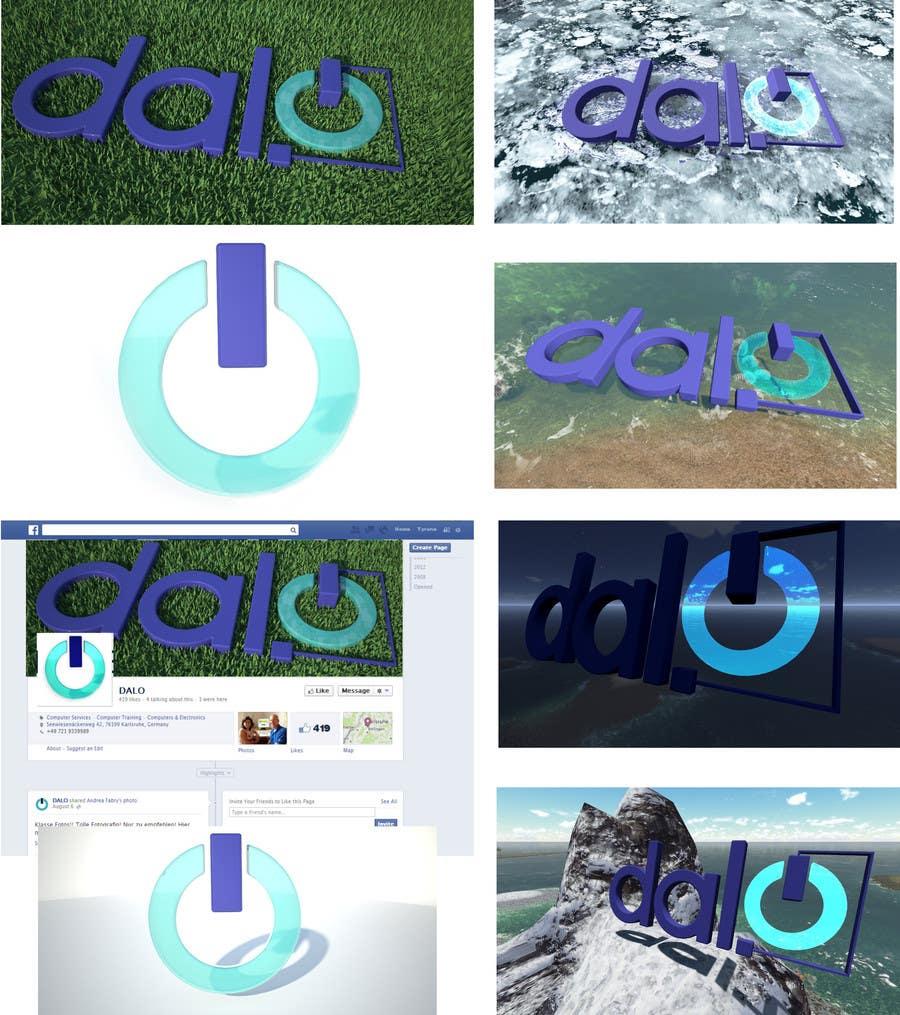 Design enhancement in 3D for DALO logo için 107 numaralı Yarışma Girdisi