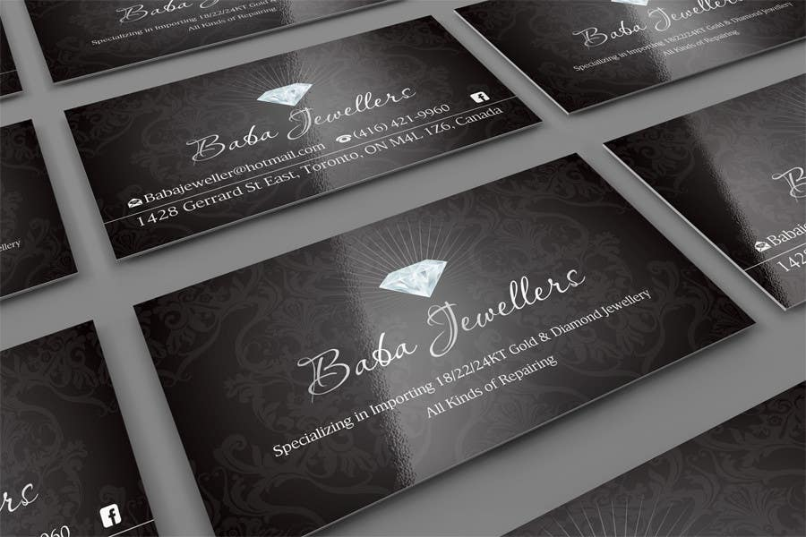 Entry #20 by midget for Design some Business Cards for Jewelry Store ...
