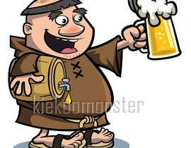 #22 for ILLUSTRATION / CARICATURE OF A MONK BREWER. by kiekoomonster